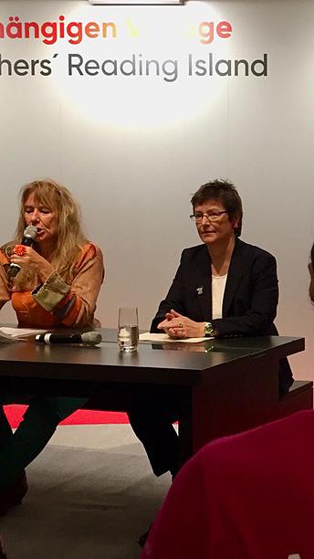 Sandra Uschtrin auf der Frankfurter Buchmesse